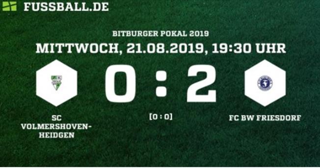 Friesdorf erreicht nächste Pokalrunde
