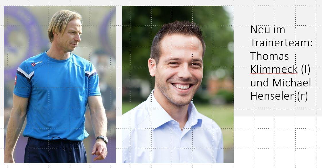 Klimmeck und Henseler neu im Trainerteam