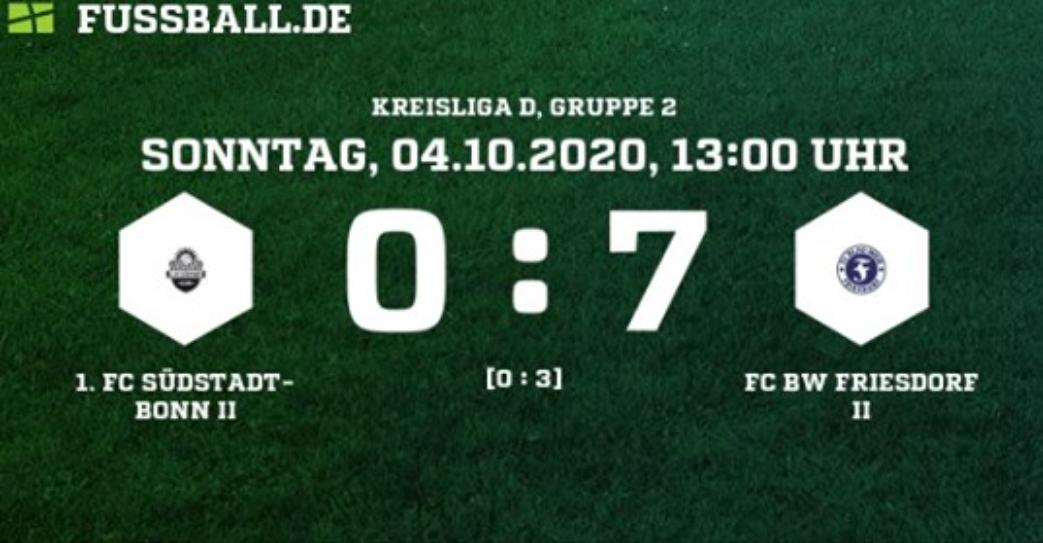 Friesdorf II überzeugt beim 1. FC Südstadt-Bonn II