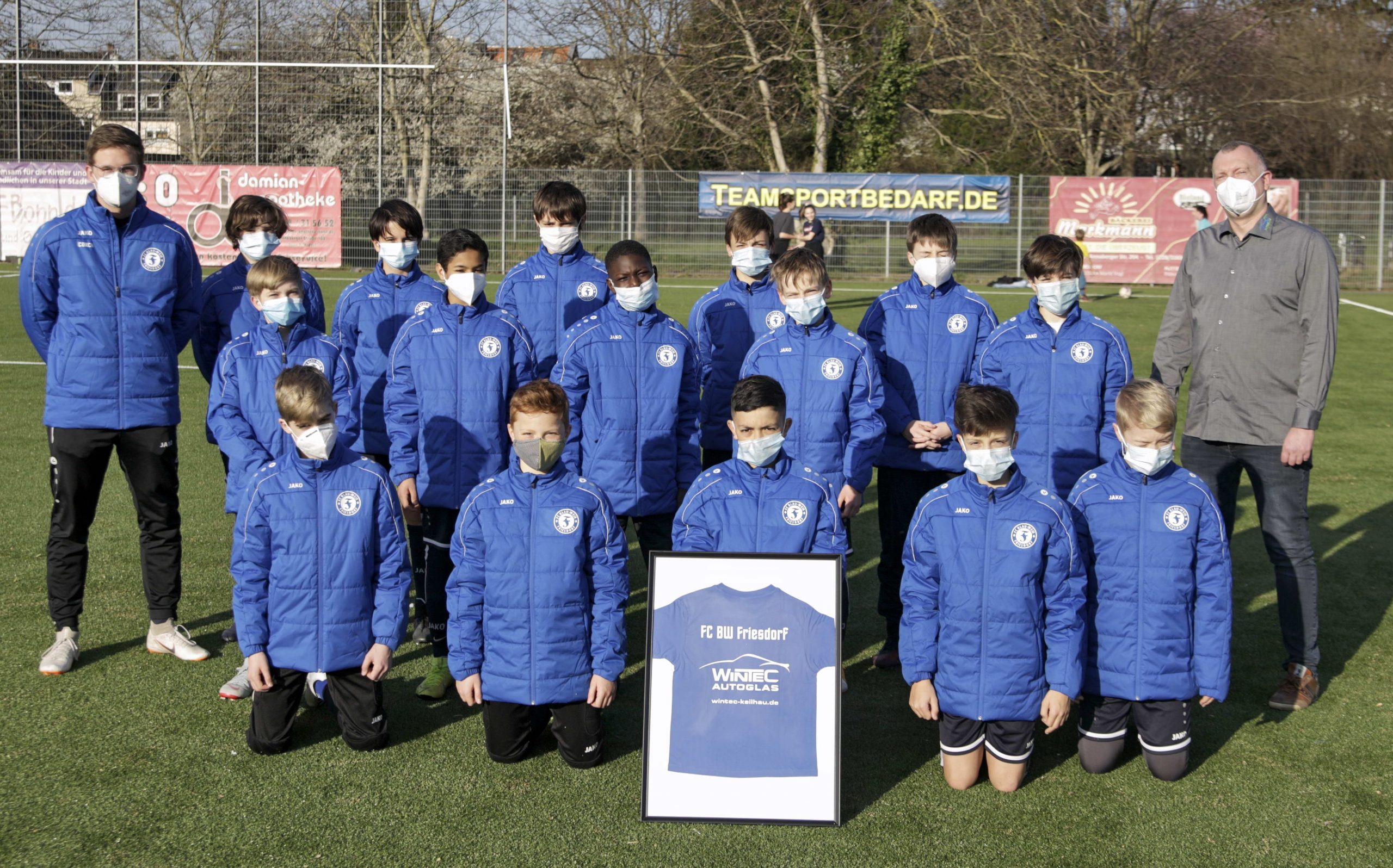 Sponsoring für die U12 des FC BW Friesdorf