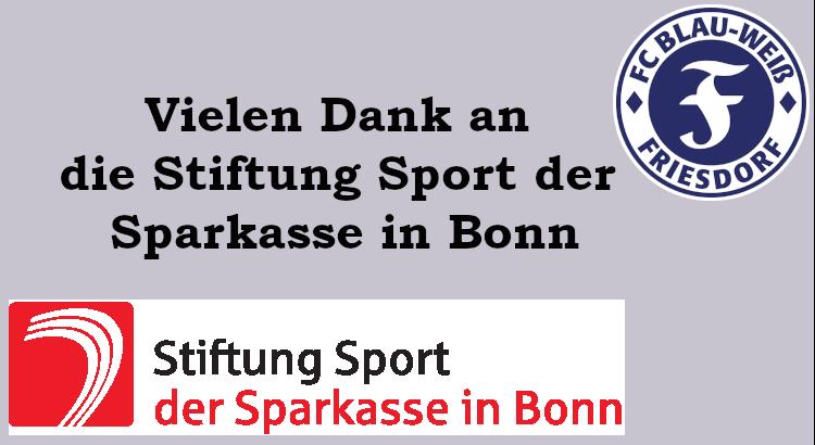 Dank an die Stiftung Sport der Sparkasse in Bonn
