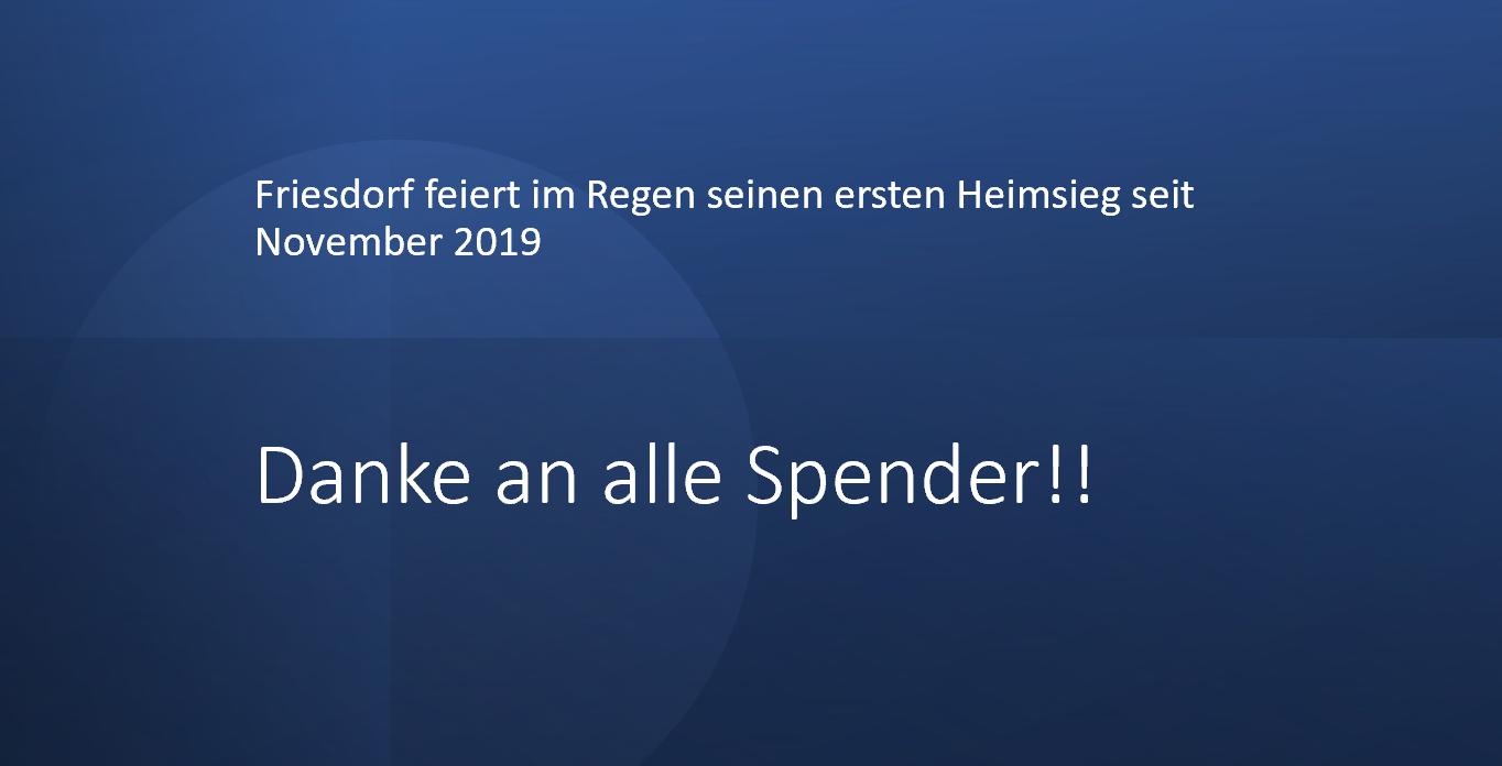 Friesdorf feiert den ersten Heimsieg seit November 2019