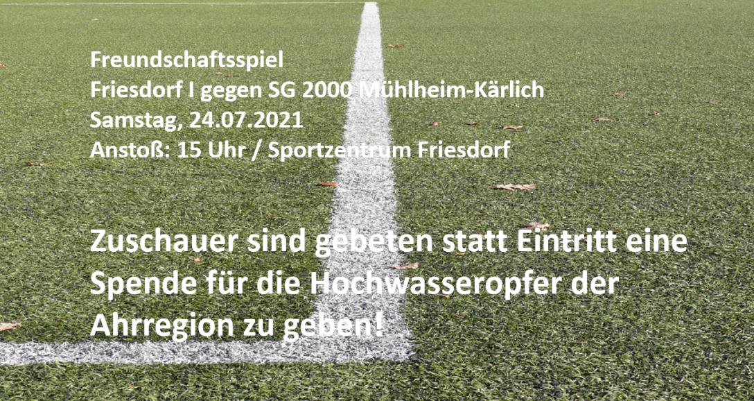 FC BW Friesdorf sammelt Spenden für Flutopfer im Kreis Ahrweiler