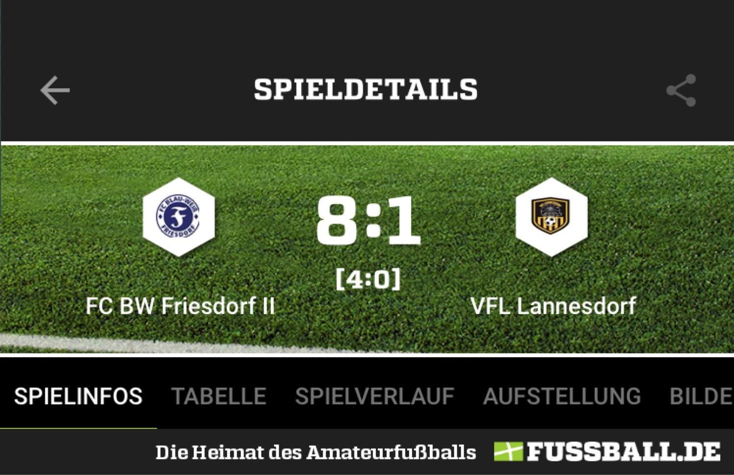 Friesdorf II überrollt den VFL Lannesdorf